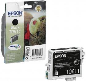Tusz Epson T0611 (C13T061140), 250 stron, black (czarny)