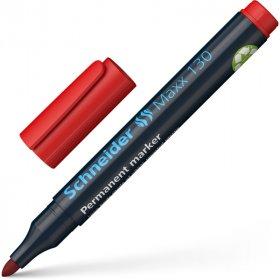 Marker permanentny Schneider, Maxx 130, okrągła, 1-3mm czerwony