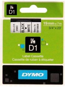 Taśma Dymo D1, 19mm x 7m, nadruk czarny, taśma-biała