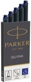 Naboje do pióra wiecznego Parker długie, 5 sztuk, niebieski