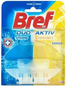 Kostka do toalet z koszyczkiem Bref Duo Aktiv, cytrynowy, 60ml