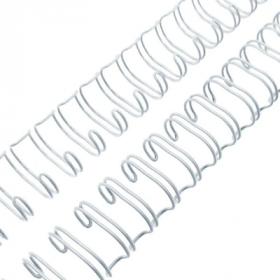 Grzbiety do bindowania Argo, 11mm, drut, 100 sztuk, biały