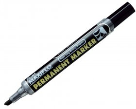Marker permanentny Pentel NLF50, z tłoczkiem, ścięta, 4.5x2 mm, czarny