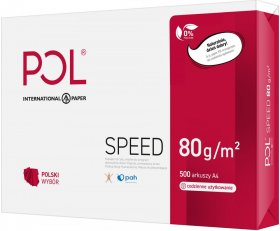 Papier ksero ekologiczny Polspeed, A4, 80g/m2, 500 arkuszy, biały