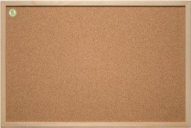 Tablica korkowa 2x3, w ramie drewnianej, 30x40cm, brązowy