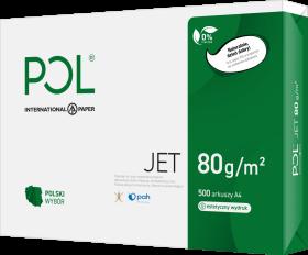 Papier ksero ekologiczny Poljet, A4, 80g/m2, 500 arkuszy, biały