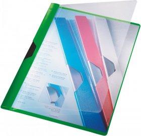 Skoroszyt plastikowy Leitz, A4, z klipsem, zielony