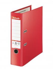 Segregator Esselte No.1 Vivida Plus, A4, szerokość grzbietu 80mm, do 600 kartek, czerwony