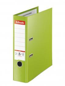 Segregator Esselte No.1 Vivida Plus, A4, szerokość grzbietu 80mm, do 600 kartek, zielony