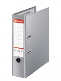 Segregator Esselte No.1 Vivida Plus, A4, szerokość grzbietu 80mm, do 600 kartek, szary