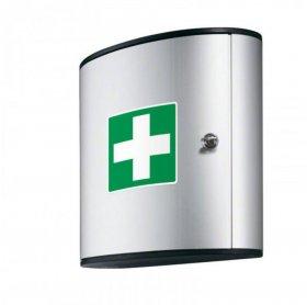 Apteczka wisząca Durable, aluminiowa, 2 półki, 302x280x118mm