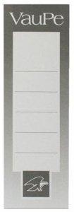 Etykiety do segregatorów VauPe, wsuwane, 48x152mm, 25 sztuk, biały