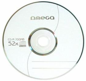 Płyta CD-R Omega, do jednokrotnego zapisu, 700 MB, koperta, 10 sztuk