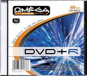 Płyta DVD+R Omega, do jednokrotnego zapisu, 4.7GB slim, 10 sztuk