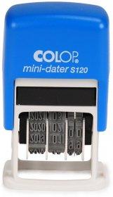 Datownik Colop, Mini Printer S 120, wersja ISO, niebieski