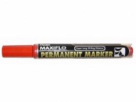 Marker permanentny Pentel, NLF-60, ścięta, 4.5x2 mm, czerwony