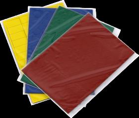 Symbole magnetyczne 2x3, 4 arkusze (317 znaków), mix kolorów