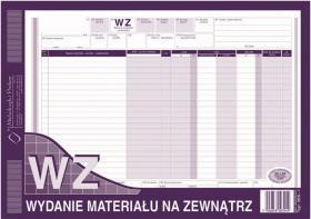 Druk akcydensowy WZ Wydanie materiału na zewnątrz MiP, A4, wielokopia, 80k