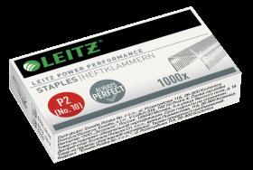 Zszywki wytrzymałe Leitz Power Performance, 10/5, 1000 sztuk, srebrny