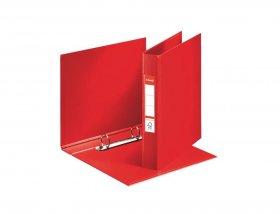 Segregator Esselte Vivida, A5, szerokość grzbietu 42mm, do 190 kartek, 2 ringi, czerwony