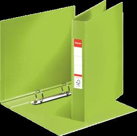 Segregator Esselte Vivida, A5, szerokość grzbietu 42mm, do 190 kartek, 2 ringi, zielony