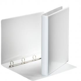 Segregator prezentacyjny Esselte, A4, szerokość grzbietu 38mm, 180 kartek, 4 ringi, biały