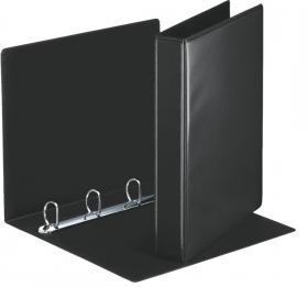 Segregator prezentacyjny Esselte Panorama, A4, szerokość grzbietu 51mm, do 280 kartek, 4 ringi, czarny
