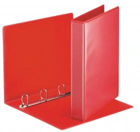 Segregator prezentacyjny Esselte Panorama, A4, szerokość grzbietu 51mm, do 280 kartek, 4 ringi, czerwony