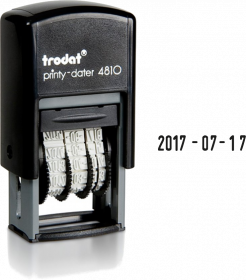 Datownik Trodat 4810, wersja ISO, czarny