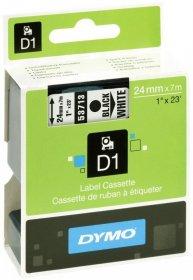 Taśma do drukarek etykiet Dymo D1, 24mmx7m, biały/czarny nadruk