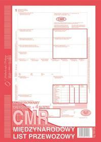 Druk akcydensowy CMR Międzynarodowy list przewozowy MiP, A4, 4 kopie, 80k