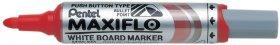 Marker suchościeralny Pentel Maxiflo MWL5M, z tłoczkiem, okrągła, 6mm, czerwony