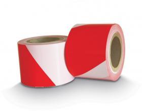 Taśma ostrzegawcza Dalpo, 100mmx91m, biało-czerwony