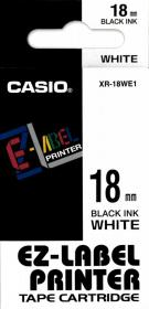 Taśma do drukarek etykiet Casio XR-18WE1, 18mm x 8m, biały