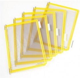 Panele informacyjne, Tarifold, A4,10 sztuk, żółty