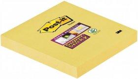 Karteczki samoprzylepne Post-it Super Sticky, 76x76mm, 90 karteczek, żółty pastelowy