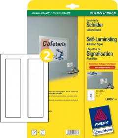 Etykiety laminowane Avery Zweckform, 67.5x255mm, 10 arkuszy