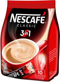 Kawa rozpuszczalna w saszetkach Nescafé 3w1 Classic, 10 sztuk x 18g