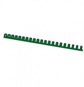 Grzbiety do bindowania Argo, plastik, 12.5mm, 100 sztuk, zielony