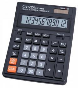 Kalkulator biurowy Citizen SDC 444S, 12 cyfr, czarny