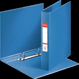 Segregator Esselte Vivida, A5, szerokość grzbietu 42mm, do 190 kartek, 2 ringi, niebieski