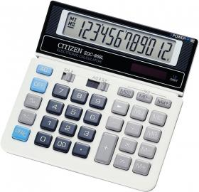 Kalkulator biurowy Citizen SDC-868, 12 cyfr, srebrny