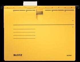 Skoroszyt zawieszany Leitz Alpha, A4, 348x270mm, 225g/m2, żółty