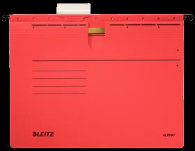 Skoroszyt zawieszany Leitz Alpha, A4, 348x270mm, 225g/m2, czerwony