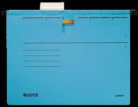 Skoroszyt zawieszany Leitz Alpha, A4, 348x270mm, 225g/m2, niebieski