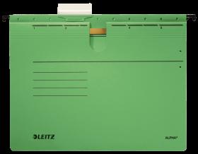 Skoroszyt zawieszany Leitz Alpha, A4, 348x270mm, 225g/m2, zielony