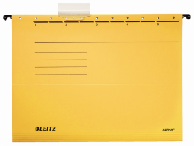 Teczka zawieszana kartonowa Leitz Alpha, A4, 348x260mm, 230g/m2,  żółty