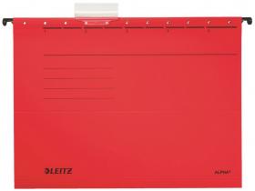 Teczka zawieszana kartonowa Leitz Alpha, A4, 348x260mm, 230g/m2, czerwony