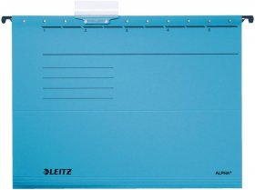 Teczka zawieszana kartonowa Leitz Alpha, A4, 348x260mm, 230g/m2, niebieski