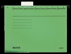 Teczka zawieszana kartonowa Leitz Alpha, A4, 348x260mm, 230g/m2, zielony